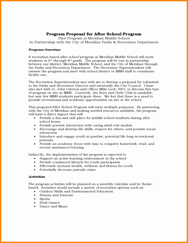 2174 after school program proposal template