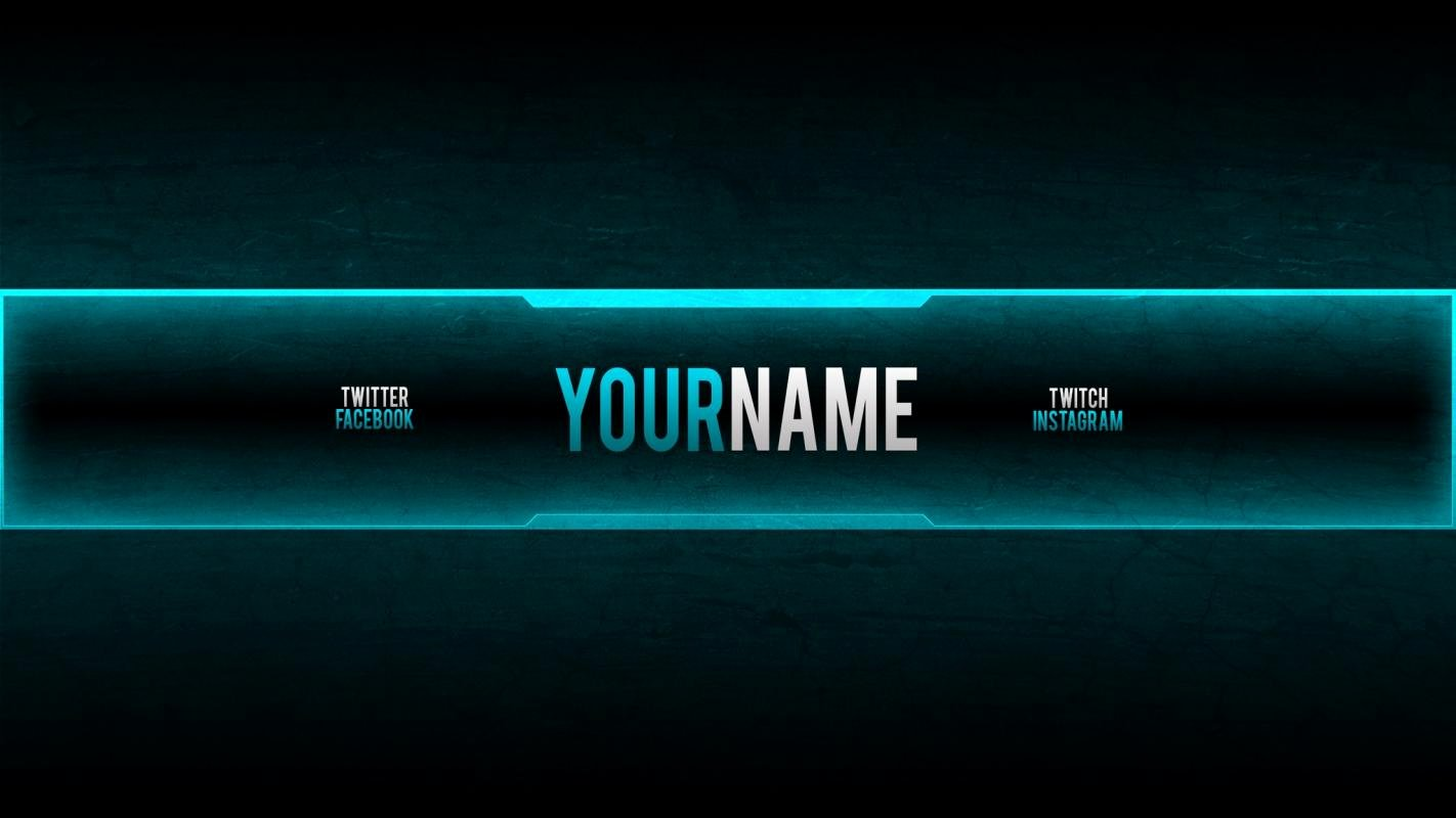 Youtube Banner Template Gaming Awesome Youtube Channel Template