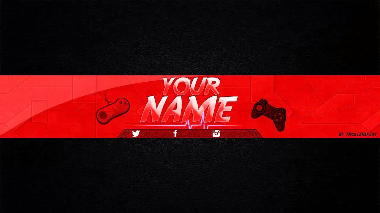 Youtube Banner Template Gaming Fresh Banner Editable Para Tu Canal De Youtube