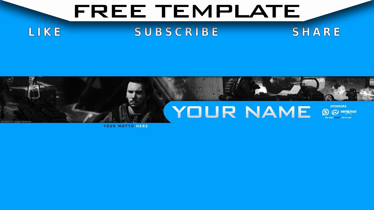 Youtube Banner Template Gaming Fresh Free Youtube Gaming Banner Template Free Download