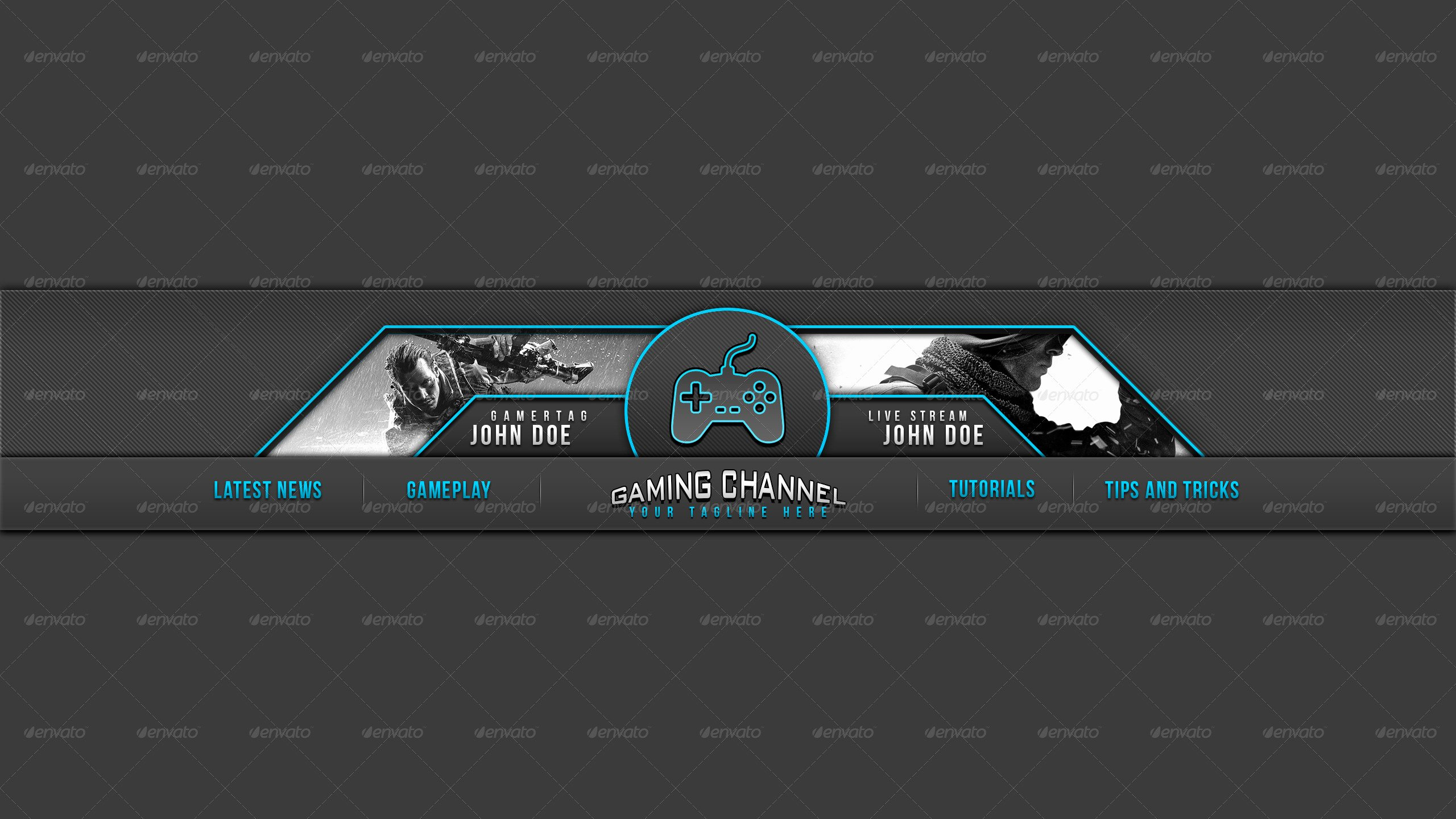 Youtube Banner Template Gaming New 31 Premium & Free Psd Youtube Channel Banners for the Best