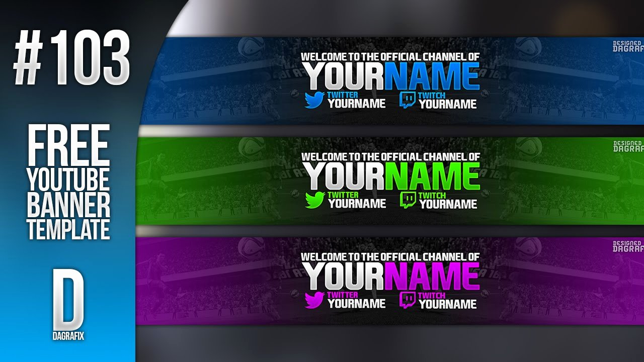 Youtube Banner Template Photoshop Awesome Fifa Banner Template 103 Free Shop Download