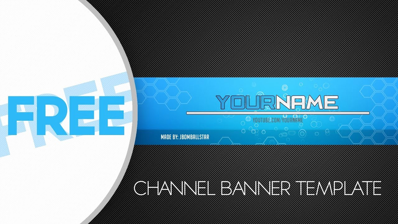 Youtube Banner Template Photoshop Awesome [ Shop] Free Hd Youtube Channel Banner Template