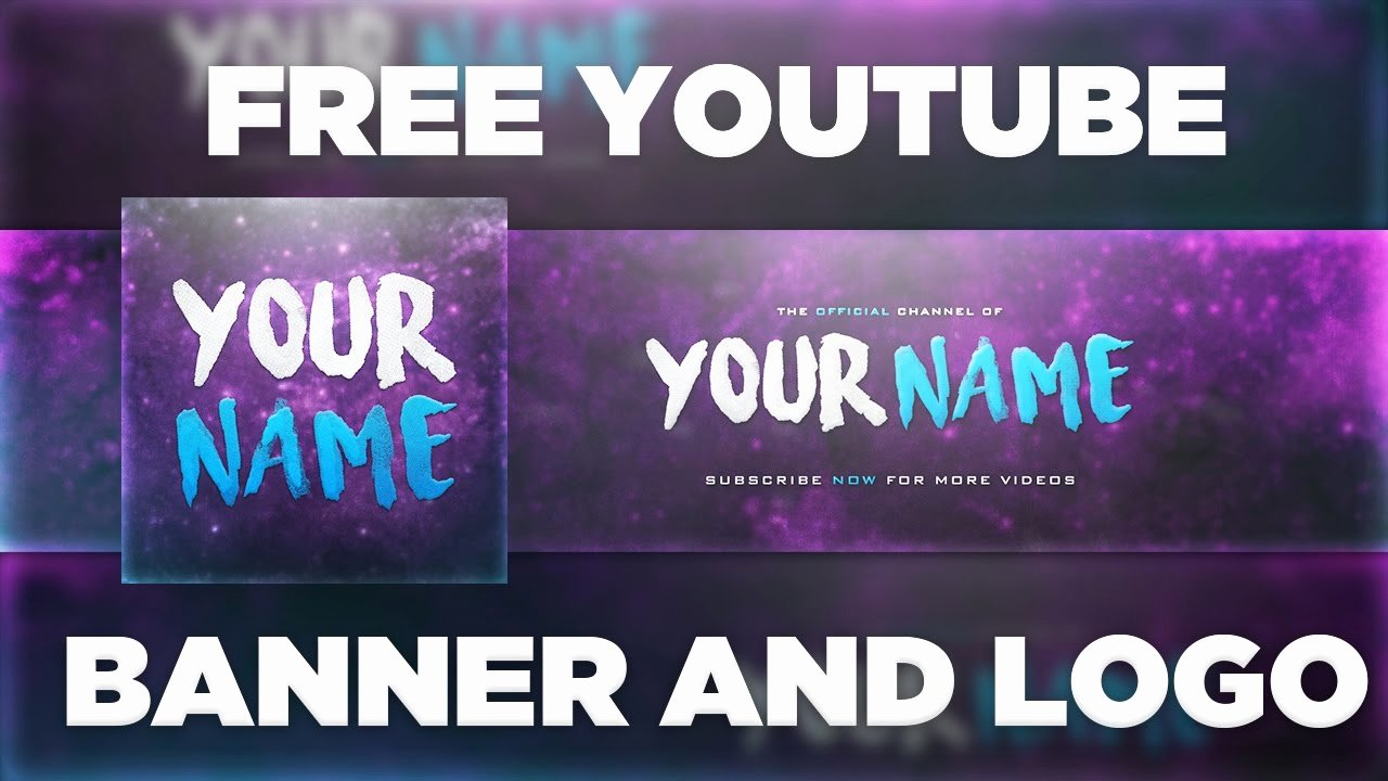 Youtube Banner Template Photoshop Awesome Space Banner Template Logo Shop Psd