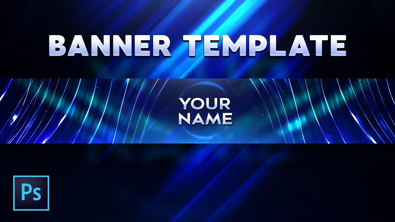 Youtube Banner Template Photoshop Beautiful Free Abstract Youtube Banner Template Free Download