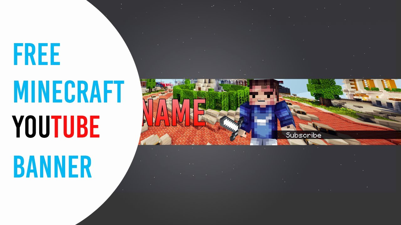 Youtube Banner Template Photoshop Beautiful Free Minecraft Banner Template Shop