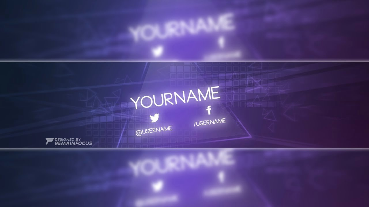 Youtube Banner Template Photoshop Elegant Glow themed Banner Template Psd 2017