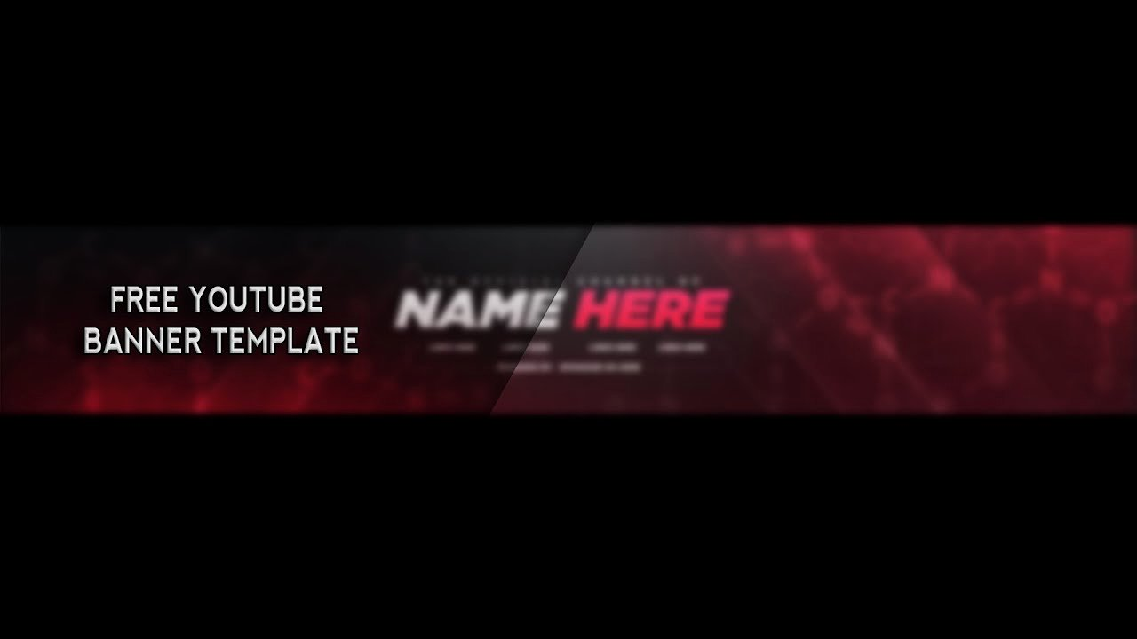 Youtube Banner Template Photoshop Fresh Free Youtube Banner Template Shop 2017