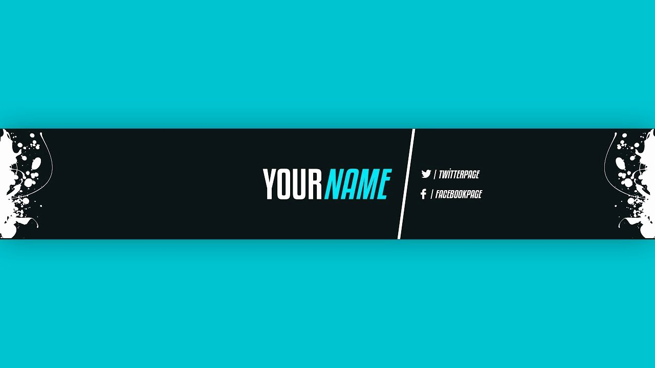 Youtube Banner Template Photoshop Fresh Youtube Banner Template 21 Adobe Shop