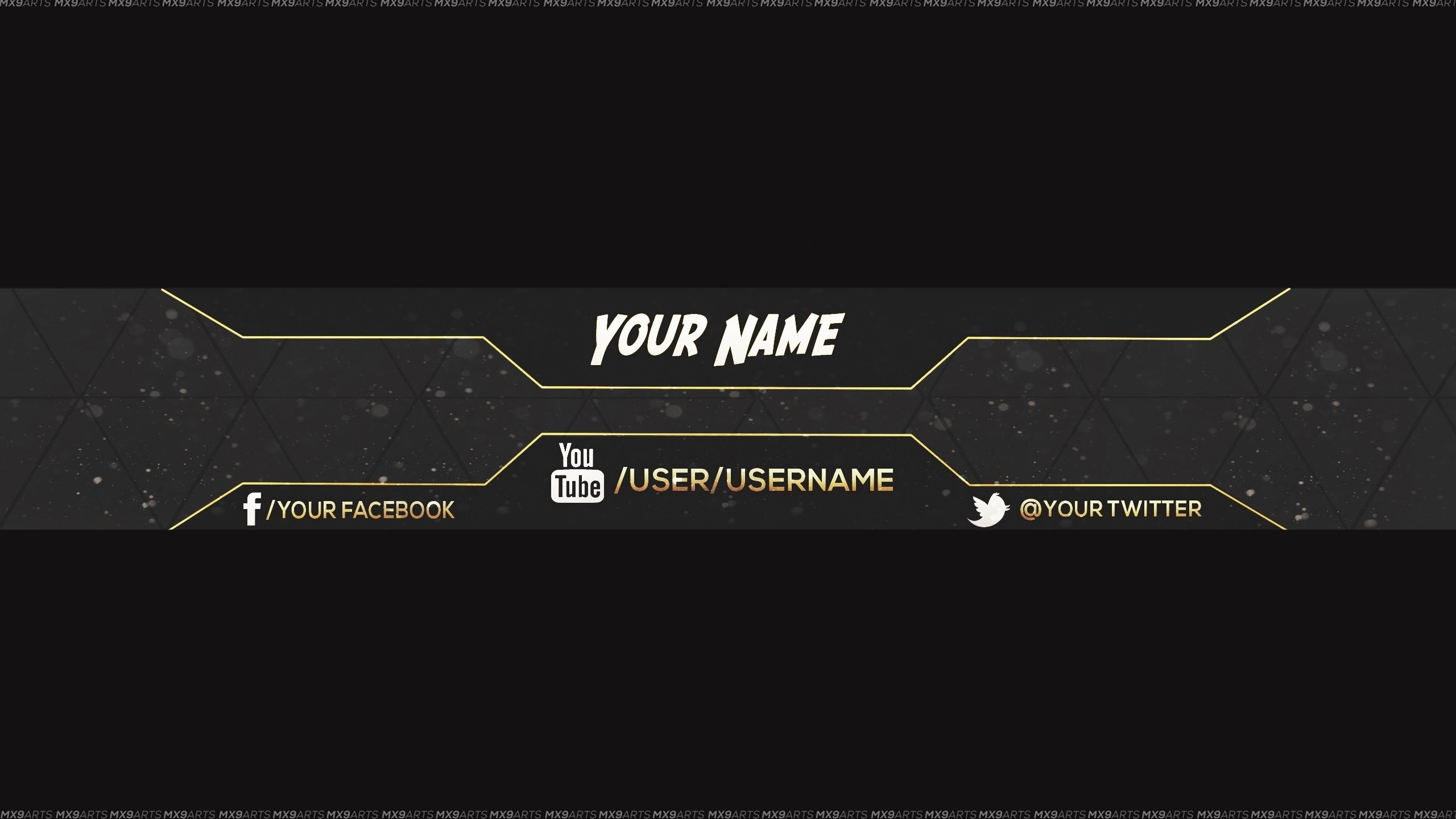 Youtube Banner Template Photoshop Inspirational Youtube Channel Banner Template Beepmunk