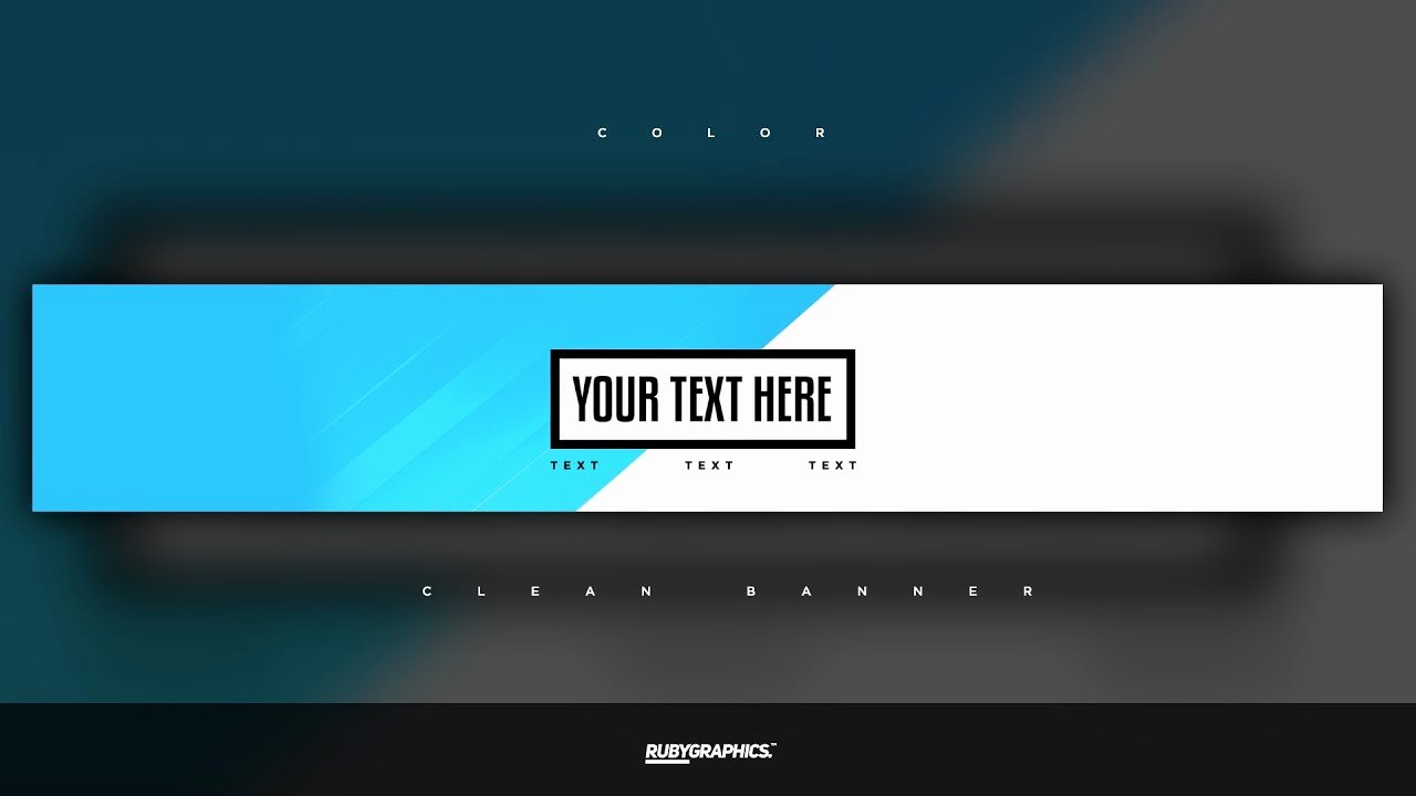 Youtube Banner Template Photoshop Lovely Free Gfx Free Shop Banner Template Clean 2d Custom