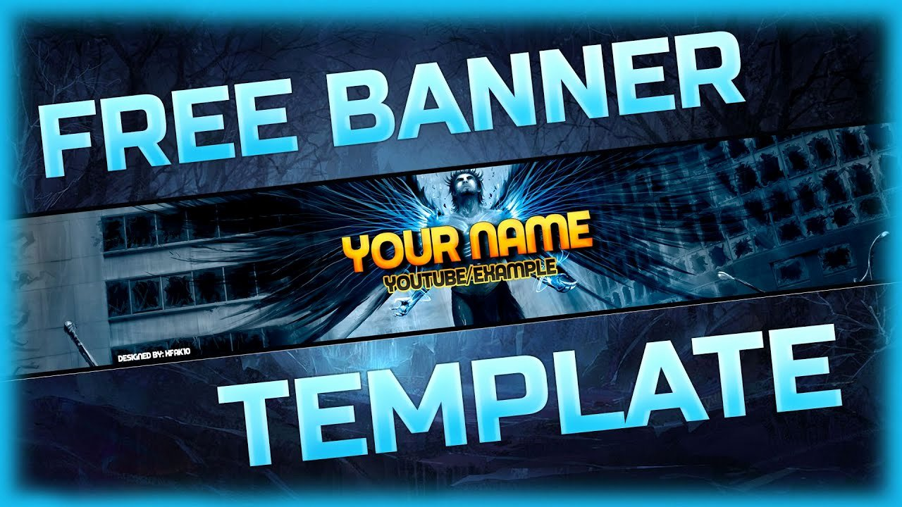 Youtube Banner Template Photoshop Luxury Free Banner Template [ Shop]