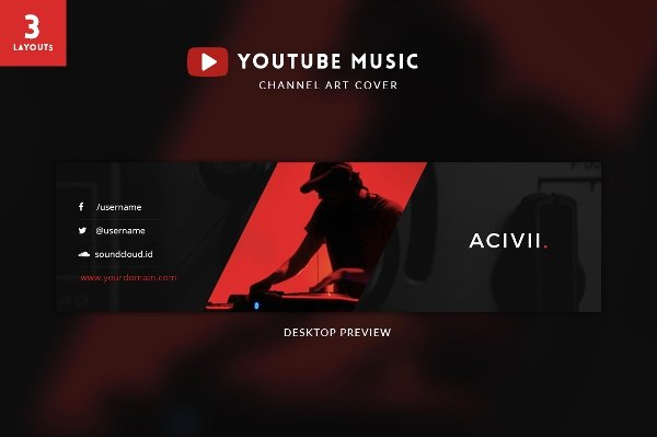 Youtube Banner Template Psd Awesome Banner Templates – 21 Free Psd Ai Vector Eps