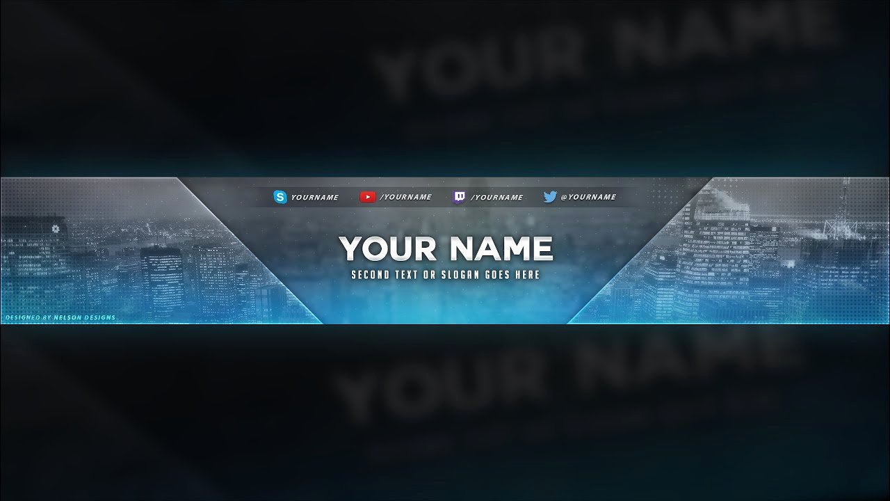 Youtube Banner Template Psd Best Of City themed Banner Template Free Download [psd