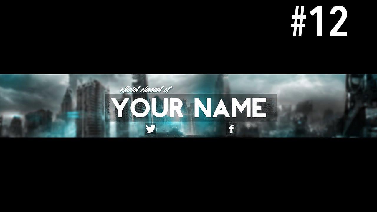 Youtube Banner Template Psd Elegant Youtube Banner Template Psd