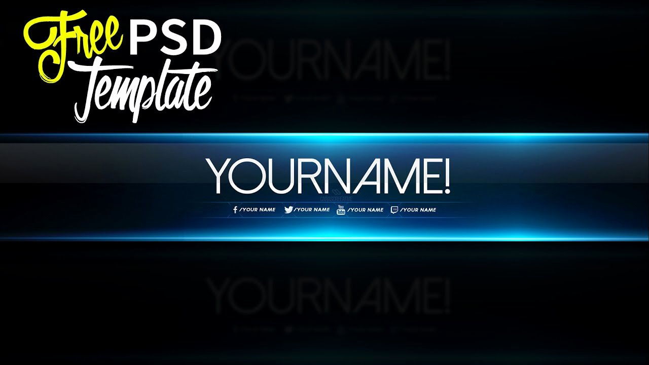 Youtube Banner Template Psd New Free Banner Template Psd 2016