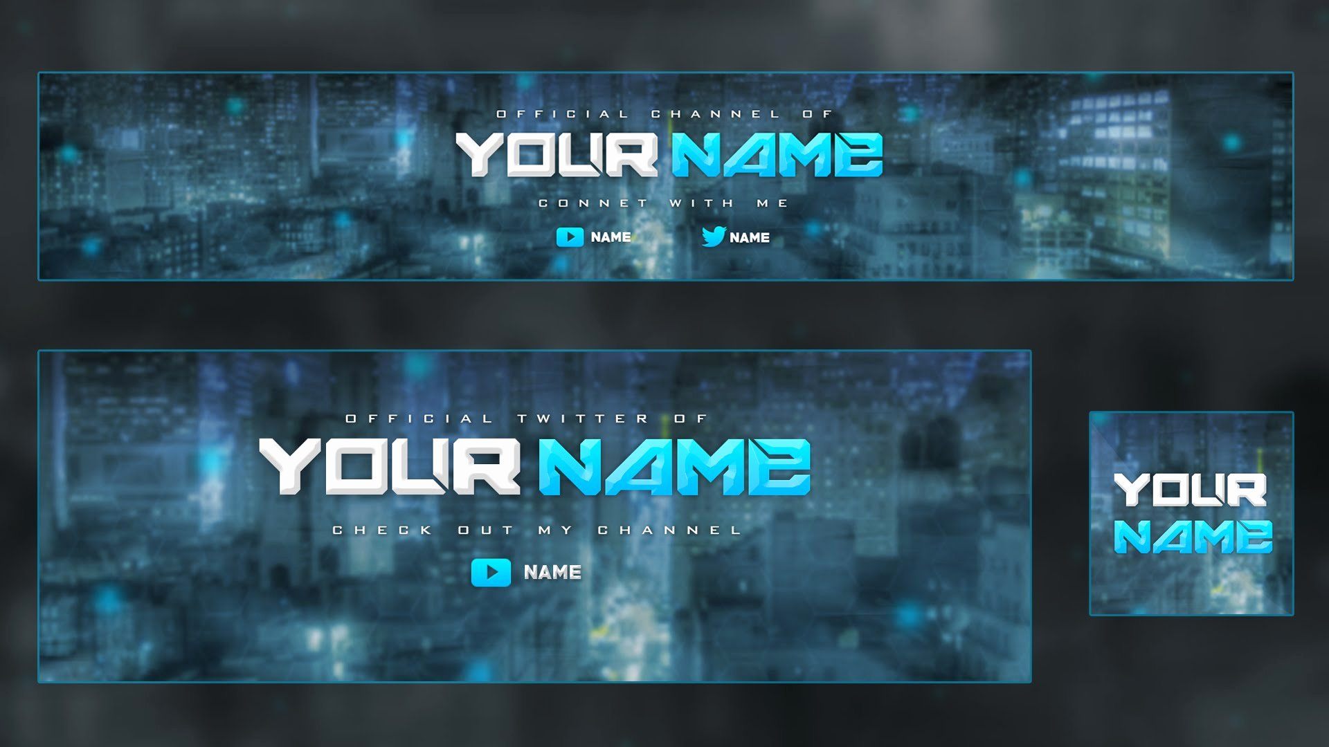 Youtube Banner Template Psd New Youtube Banner Template Psd