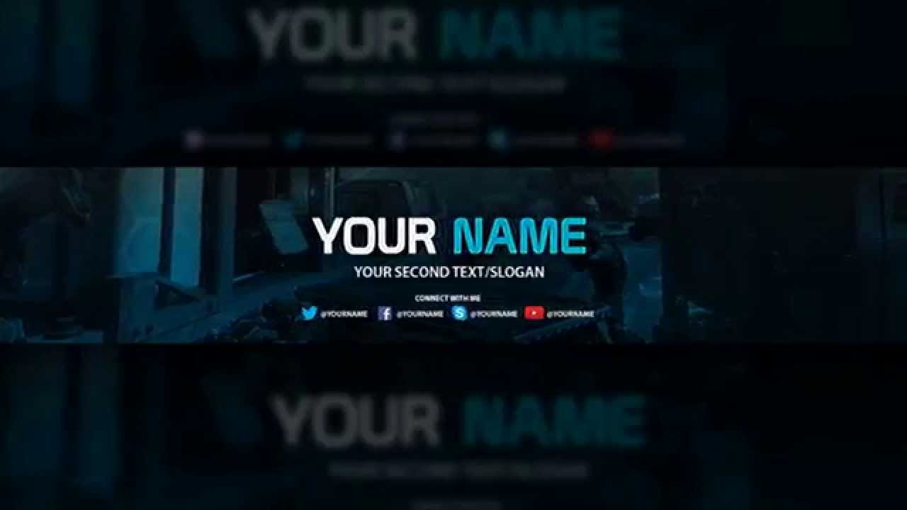Youtube Banner Template Psd Unique Banner Template Free Download Psd