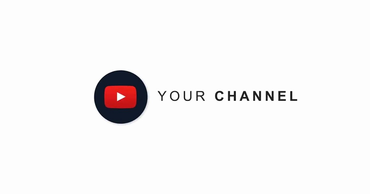 Youtube Channel Logo Template Luxury after Effects Template Simple Logo for Channel