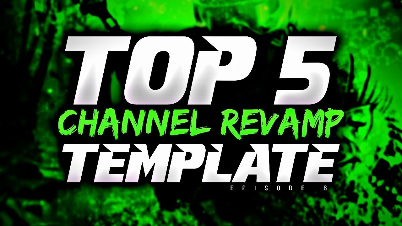 Youtube Channel Logo Template Luxury top 5 Free Channel Revamp Banner Twitter Header