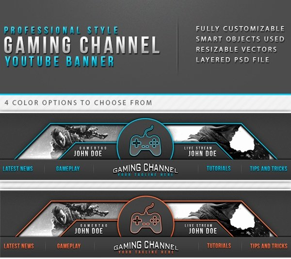 Youtube Gaming Banner Template Awesome Banner Templates – 21 Free Psd Ai Vector Eps