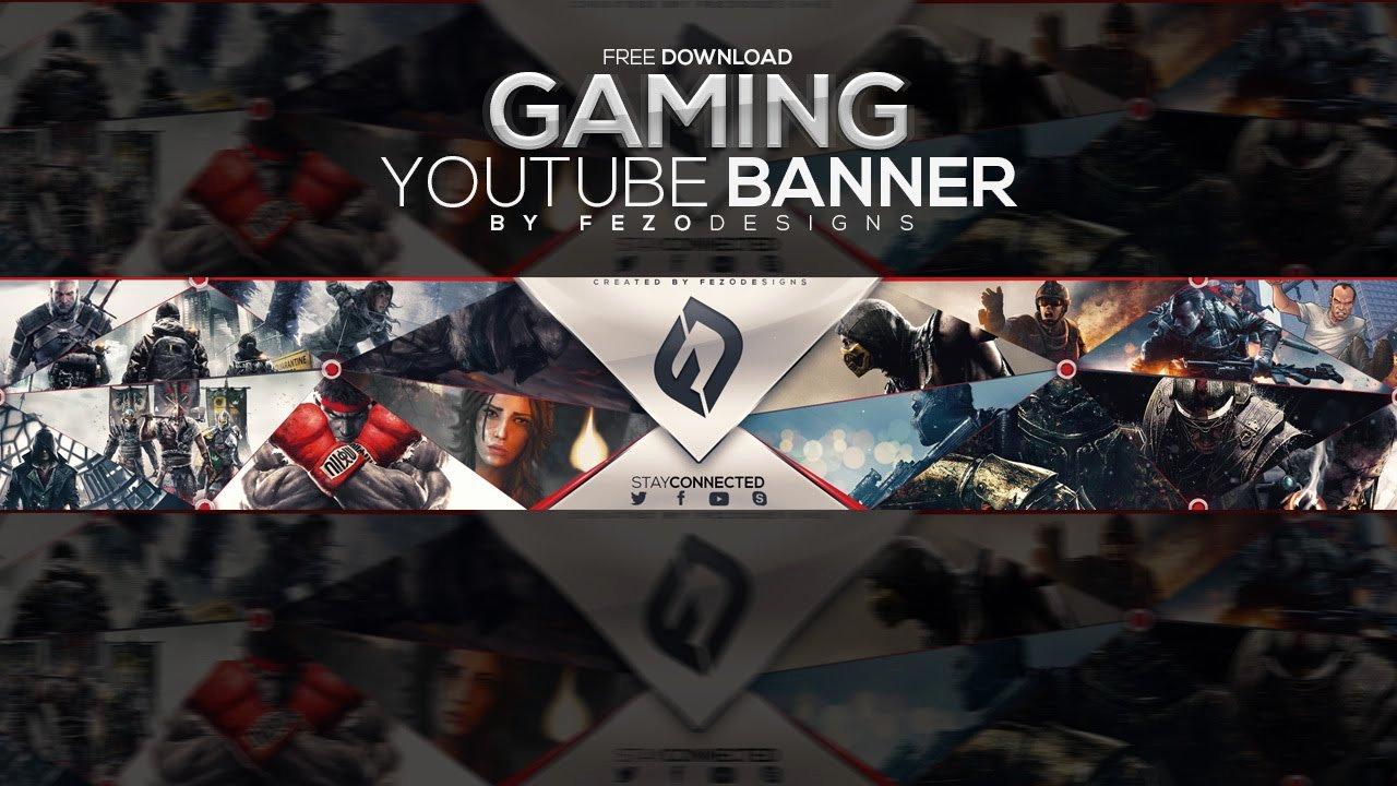 Youtube Gaming Banner Template Best Of Pro Gaming Banner Template Fezodesigns