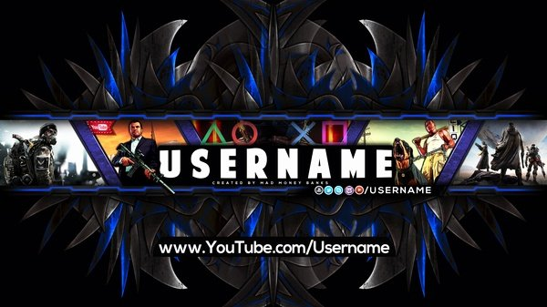 Youtube Gaming Banner Template Fresh Pro Gaming Channel Banner Template Floral