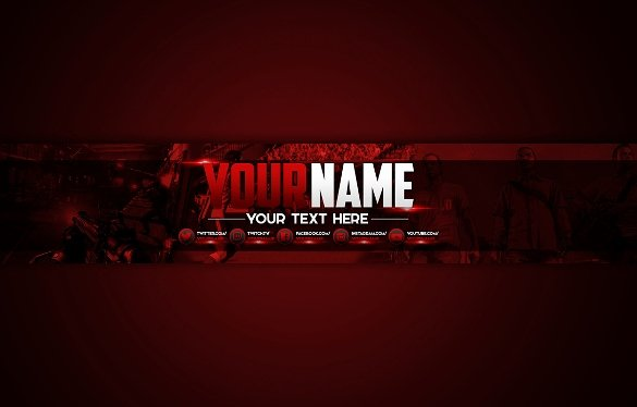 Youtube Gaming Banner Template Inspirational 25 Channel Art Templates – Free Sample Example