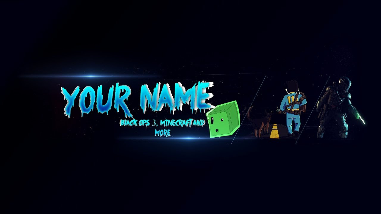 Youtube Gaming Banner Template Lovely Amazing 3d Banner Template