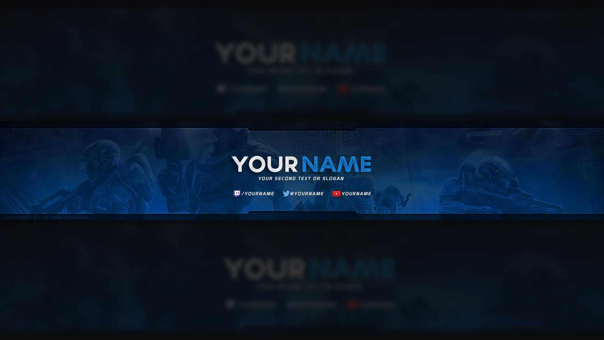 Youtube Gaming Banner Template Lovely Youtube Banner Template Psd