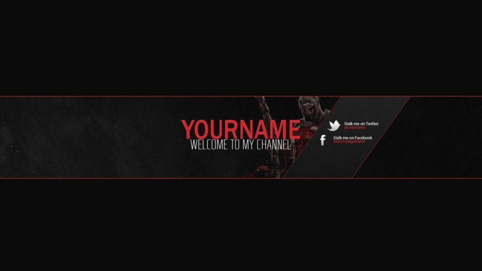 Youtube Gaming Banner Template Lovely Youtube Banner Templates