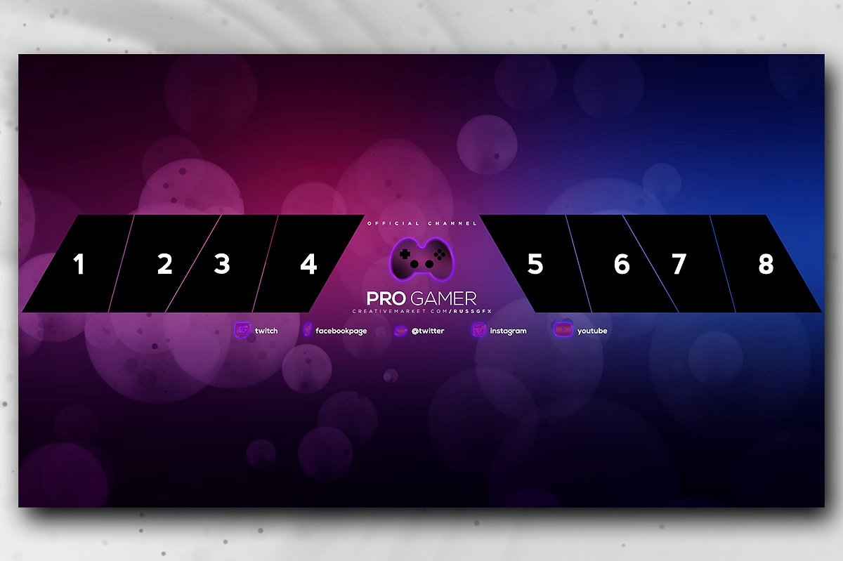 Youtube Gaming Banner Template Unique 20 Gaming Channel Art Templates for Gamers Vlog